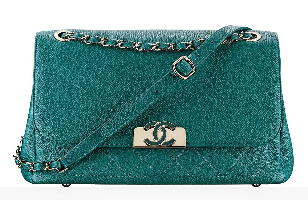 Chanel-Flap-Bag-Green-4100