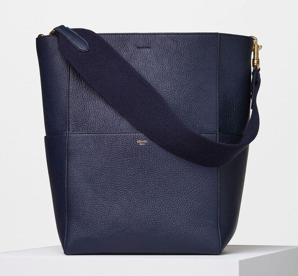 Celine-Seau-Sangle-Shoulder-Bag-Blue-2550