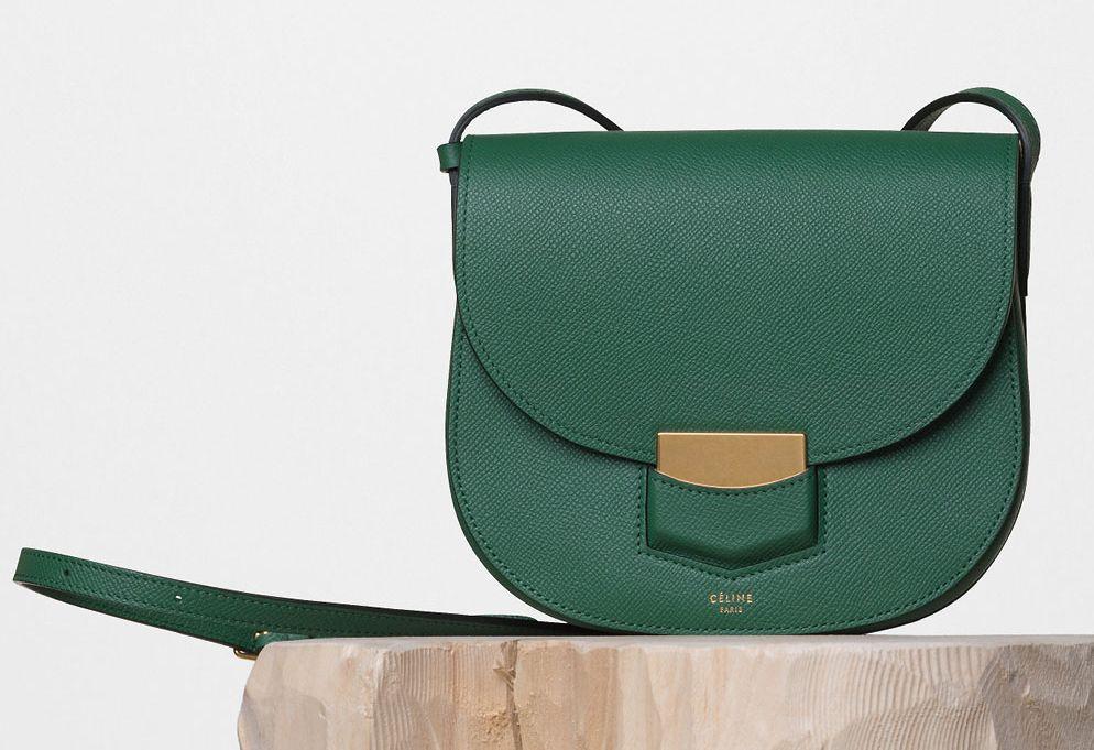 Celine-Small-Trotteur-Shoulder-Bag-Forest-1850