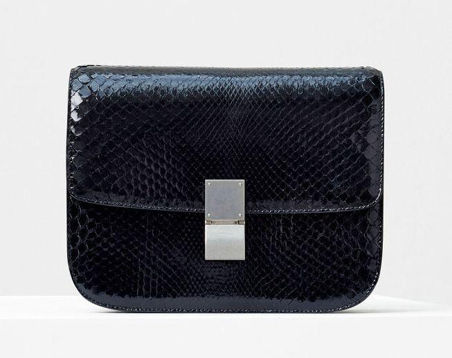 Celine-Classic Box Bag-Black Python-5600$