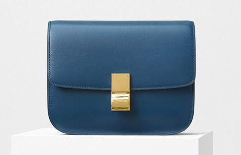 Celine-Classic Box Bag-Blue-3900$