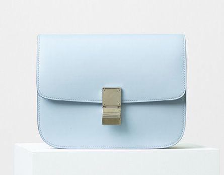Celine-Classic Box Bag-Pale Blue-3900$