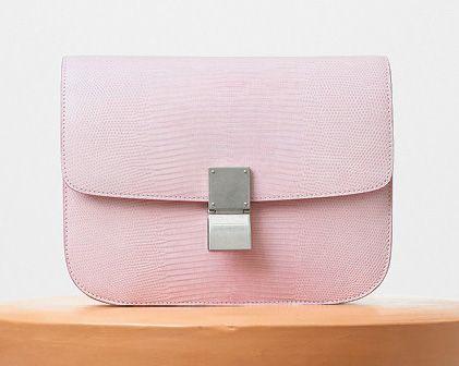 Celine-Classic Box Bag-Pink Lizard-6800$