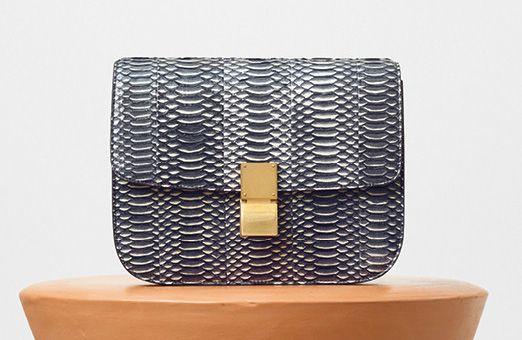 Celine-Classic Box Bag-Watersnake-4650$