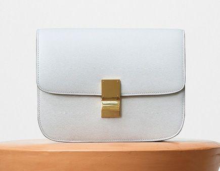 Celine-Classic Box Bag-White-3900$