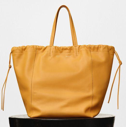 Celine-Large Coulisse Shoulder Bag-Yellow-2350$