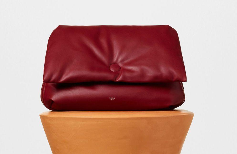 Celine-Medium Pillow Shoulder Bag-Burgundy-3400$