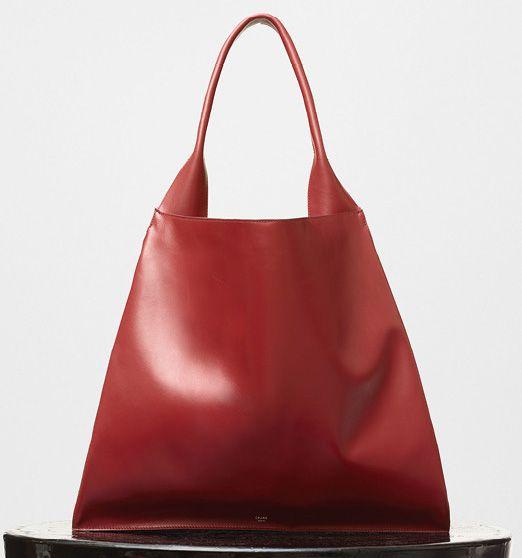Celine-Medium Shopper Shoulder Bag-Red-2200$