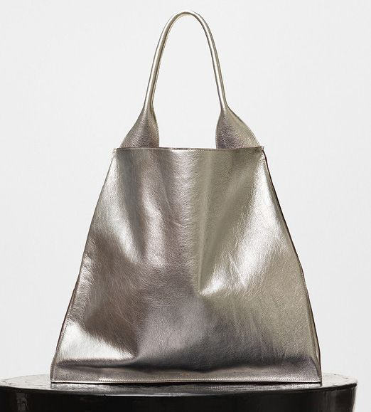 Celine-Medium Shopper Shoulder Bag-Silver-2500$