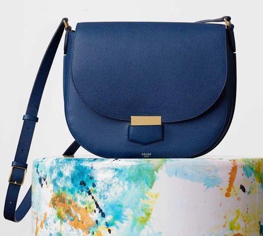 Celine-Medium Trotteur Bag-Blue-2650$