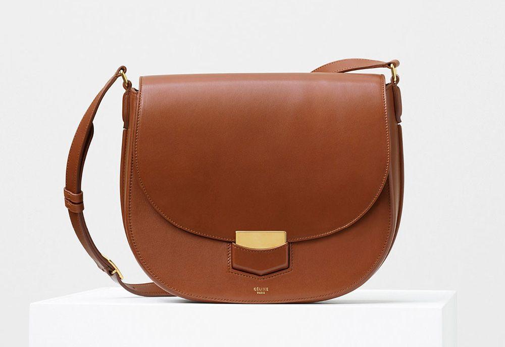 Celine-Medium Trotteur Bag-Tan-3100$