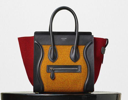 Celine-Micro Luggage Tote-Orange-Felt-2550$