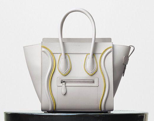 Celine-Micro Luggage Tote-White-3400$