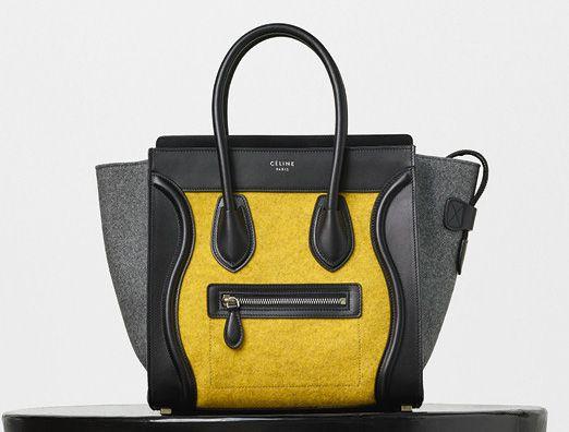 Celine-Micro Luggage Tote-Yellow-Felt-2550$