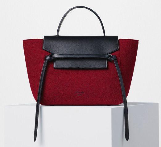 Celine-Mini Belt-Bag-Red Felt-2200$