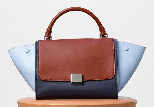Celine-Small Trapeze Shoulder Bag-Blue-2700$