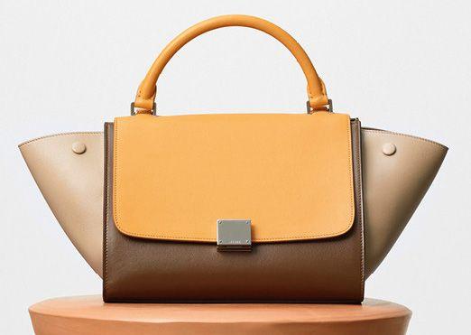 Celine-Small Trapeze Shoulder Bag-Yellow-2700$