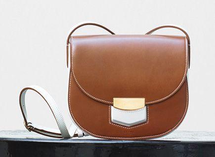 Celine-Small Trotter Shoulder Bag-Tan-2100$