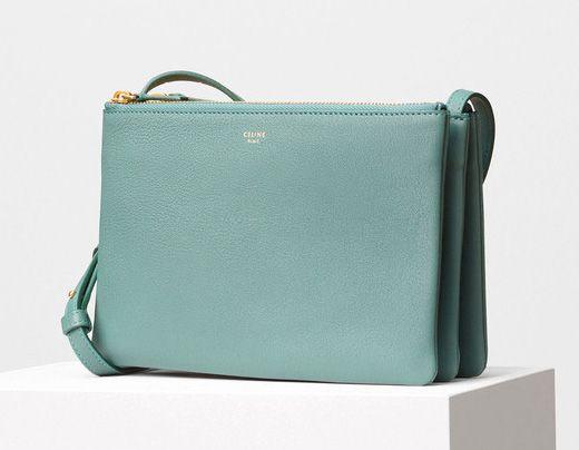 Celine-Trio Shoulder Bag Green 1150$