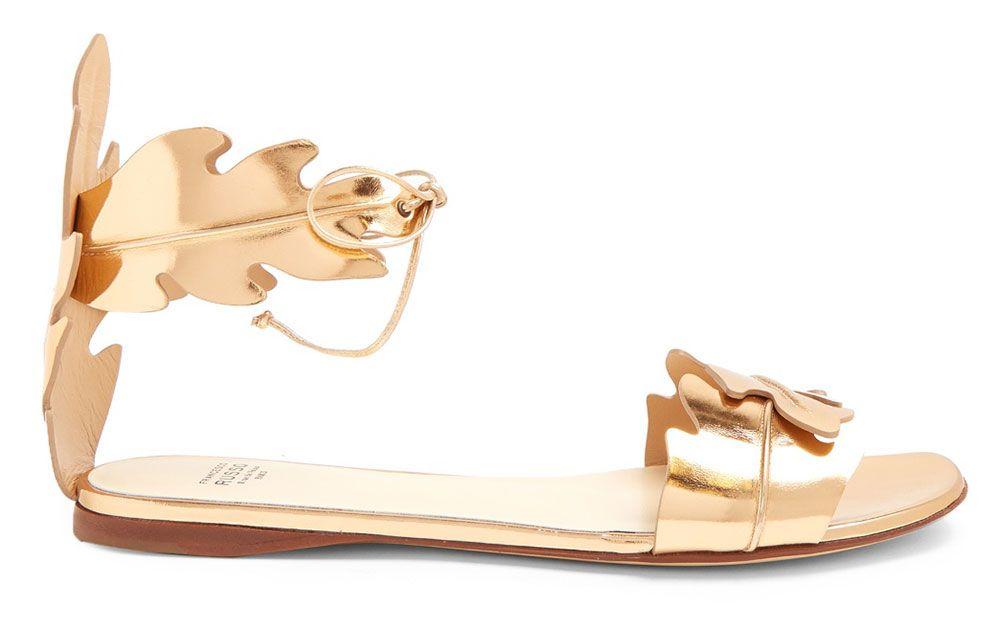 Francesco-Russo-Leaf-Strap-Sandals- 551,00$