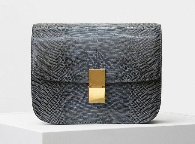 Celine Classic Box Bag Blue Lizard-6500$